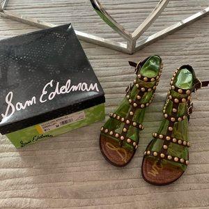 Sam Edelman Eavan Dark Brown Leather Sandal